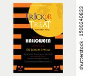 halloween trick or treat flyer. ... | Shutterstock .eps vector #1500240833