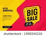 big sale discount banner... | Shutterstock .eps vector #1500242210