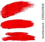 set of red stroke brushes...   Shutterstock .eps vector #1500265826