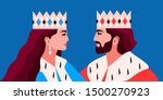 king and queen. female and male ...   Shutterstock .eps vector #1500270923