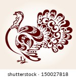 decorative turkey | Shutterstock .eps vector #150027818