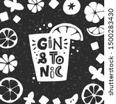 Gin And Tonic Grunge Style Car...