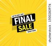 special offer sale banner... | Shutterstock .eps vector #1500283976