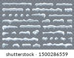 snow ice icicle set winter... | Shutterstock .eps vector #1500286559
