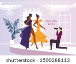 apparel model photoshoot flat... | Shutterstock .eps vector #1500288113