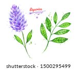 watercolor hand drawn... | Shutterstock . vector #1500295499