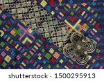 lao traditional belt rolled up   Shutterstock . vector #1500295913