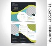vector triple folding brochure... | Shutterstock .eps vector #1500297416