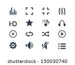 media player icons | Shutterstock .eps vector #150030740