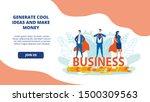 bright flyer inscription... | Shutterstock .eps vector #1500309563