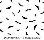 seamless background  bats... | Shutterstock .eps vector #1500318239