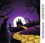 creepy halloween background. jpg | Shutterstock . vector #150031853