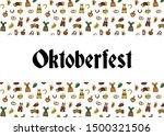 oktoberfest party invitation... | Shutterstock .eps vector #1500321506