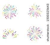 fire work icon vector... | Shutterstock .eps vector #1500325643