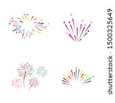 Fire Work Icon Vector...