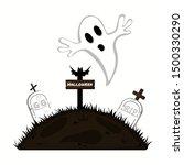 happy halloween  with halloween ... | Shutterstock .eps vector #1500330290
