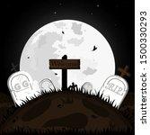 happy halloween  with greeting... | Shutterstock .eps vector #1500330293