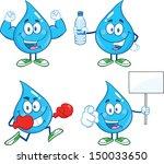 Water Drop Cartoon Mascot...