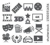 cinema icons on white background   Shutterstock .eps vector #1500351656