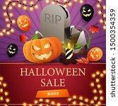 halloween sale  square discount ... | Shutterstock .eps vector #1500354359