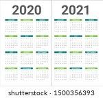 year 2020 2021 calendar vector... | Shutterstock .eps vector #1500356393