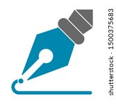 flat illustration of pen vector ... | Shutterstock .eps vector #1500375683
