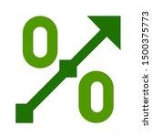flat illustration of percentage ... | Shutterstock .eps vector #1500375773