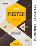 retro poster template | Shutterstock .eps vector #150037619