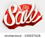 sale typography background.... | Shutterstock .eps vector #150037628