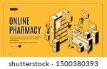 online pharmacy isometric web... | Shutterstock .eps vector #1500380393