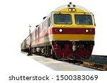 Locomotive Train On Railroad...