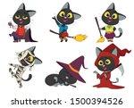 happy halloween. set of cute... | Shutterstock .eps vector #1500394526
