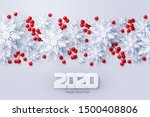 vector 2020 happy new year and... | Shutterstock .eps vector #1500408806