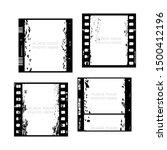 set of 35mm filmstrips. film... | Shutterstock .eps vector #1500412196