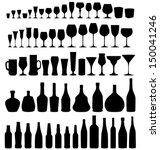 glass and bottle vector... | Shutterstock .eps vector #150041246