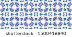 ethnic aztec pattern. repeat... | Shutterstock . vector #1500416840