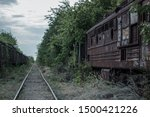 Railroad In The Forest And Old...