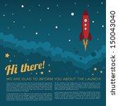 rocket launch in space vector... | Shutterstock .eps vector #150043040