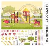 playground structure creation... | Shutterstock .eps vector #1500432659