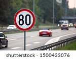 80km H Speed Limit Sign A...