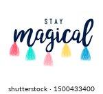 slogan illustration for girl...   Shutterstock .eps vector #1500433400