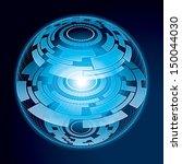 fantasy navigation sphere.... | Shutterstock .eps vector #150044030