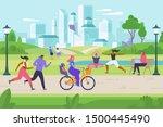 outdoor activities flat vector... | Shutterstock .eps vector #1500445490