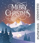 merry christmas and happy new... | Shutterstock .eps vector #1500445550
