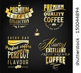set of golden vintage retro... | Shutterstock .eps vector #150044894