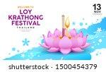 loy krathong festival in... | Shutterstock .eps vector #1500454379