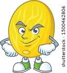 smirking melon cartoon... | Shutterstock .eps vector #1500462806