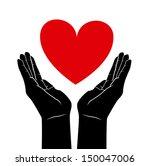 hands  love design over white... | Shutterstock .eps vector #150047006