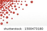 vector realistic red flowers... | Shutterstock .eps vector #1500473180