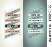 wedding invitation | Shutterstock .eps vector #150047420